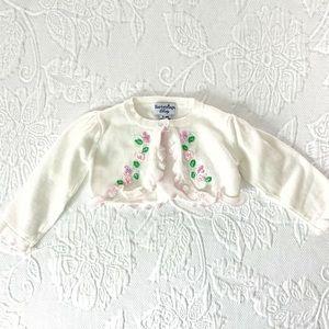 Hartstrings Baby | Floral Shrug (6-9 mos) 🌸